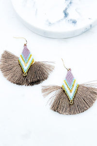 138- Fan Tassel Earrings