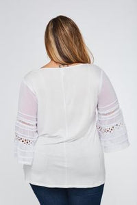 236- Lace insert top
