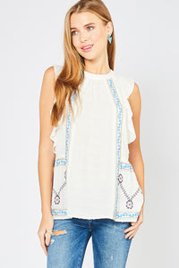 306- Dotted White Top