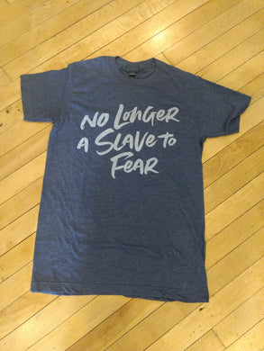 No Longer a Slave to Fear graphic tee