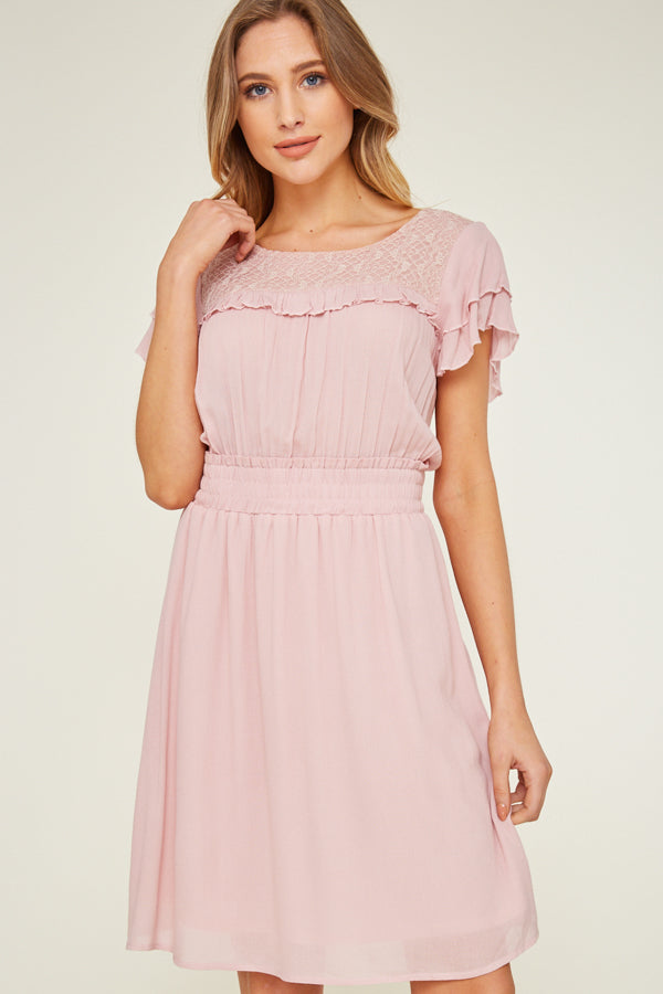 1740- Barbie Lace Pink Dress