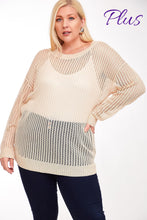 Load image into Gallery viewer, 1747 - Light Mesh Cross Back Sweater