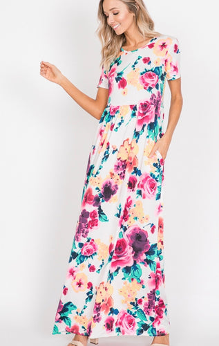 1212 - Water Color Maxi with Pockets