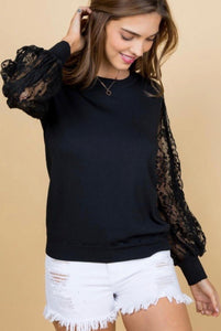 977 - Kingston Black Lace Top