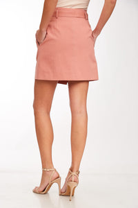 1278 - Blush Button Skirt