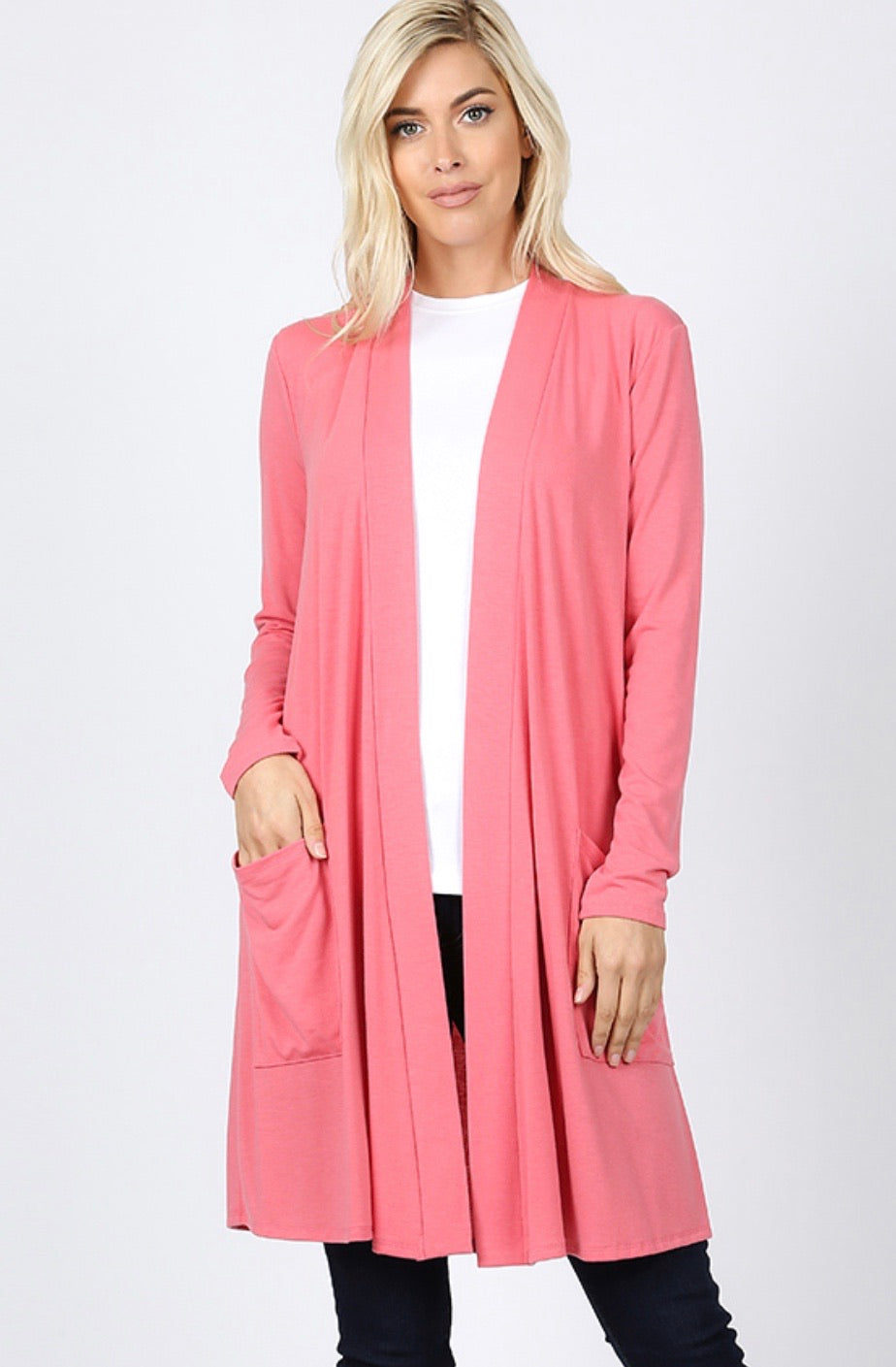 1350 - All the Stretch Basic Cardigan