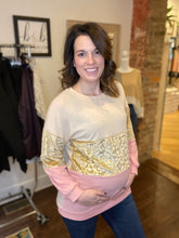 Load image into Gallery viewer, 2375- Bicknell Metallic Leopard Top