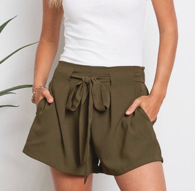1773 - Olive Oil Cloth Shorts