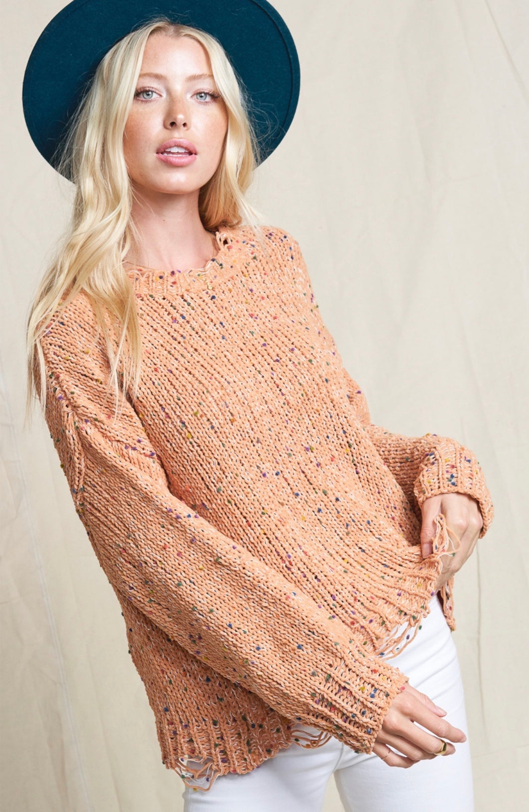 681 - Sedalia Speckled Sweater