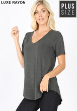 Load image into Gallery viewer, 1362 - PLUS VNeck Basic Tee