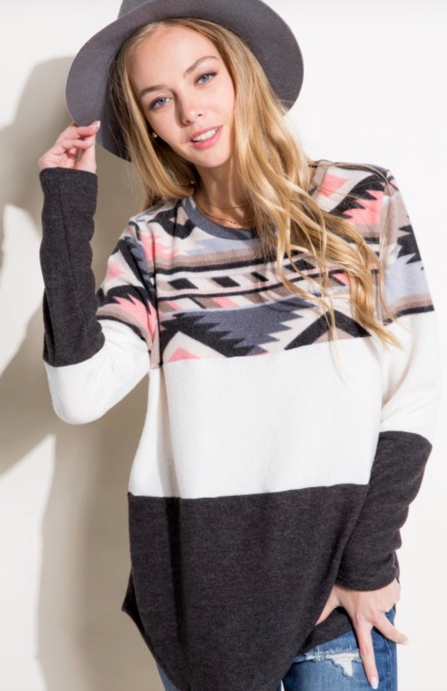 869 - PLUS Aztec Ama Top