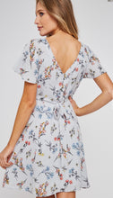 Load image into Gallery viewer, 1340 - Back Tie Floral Short Dress