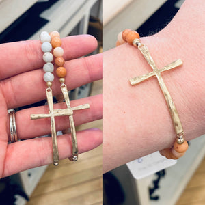 Cross Beaded Bracelet (Southern Seoul)