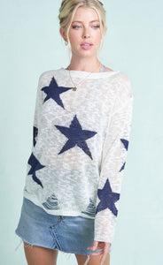 987 - Destroyed Star Sweater