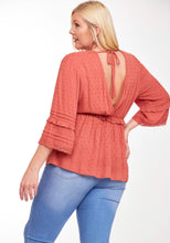 Load image into Gallery viewer, 1086 - Ruffled Detail V Neck Top