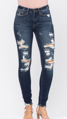 Judy Blue Mid Rise Destroyed Skinny (JB82210)