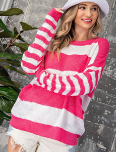 2574 - Born to Standout Striped Sweater