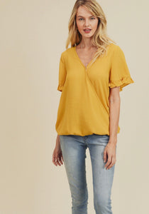 949 - Mustard Middleton Top