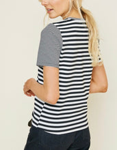 Load image into Gallery viewer, 1618 - Dual Stripe Short Sleeve Top