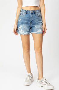 KC5197 - Stripe Patch Hazel High Rise Shorts