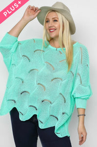 913 - PLUS Mint Chip Cozy Sweater