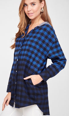 672 - Dallas Button Down Hoodie
