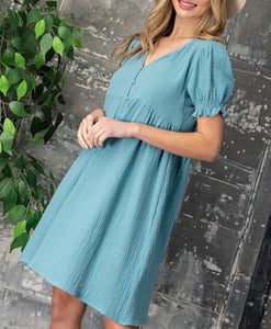 2718 - Waverly Front Button Dress