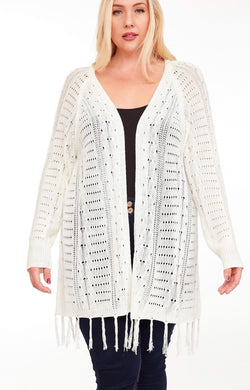 1083 - Light Knit Open Front Cardigan