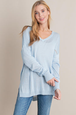 2645 - Oakleigh Washed Lightweight Sweater