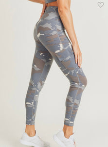 2524 - Blue Tundra Army Active Leggings