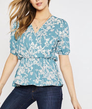 Load image into Gallery viewer, 2854 - Blossom Flower Peplum Top