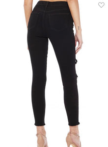 Eunina Black Clara High Rise Skinny Crop (9656)