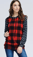 Load image into Gallery viewer, 798 - Polka Dot & Plaid Hoodie