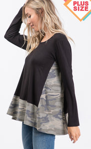 915 - PLUS Camo & Black Tunic
