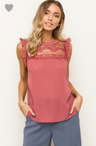 1552 - Berry Beautiful Sleeveless Top