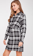 Load image into Gallery viewer, 736 - Plaid Button Dress