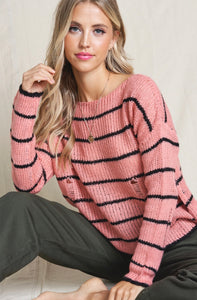 985 - Textured Thread Stripe Sweater