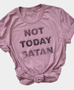 Not Today Satan graphic tee