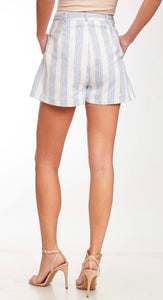 1444- Blue Baylor Stripe Shorts