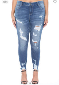 Cello Plus SizeMid Rise Crop Skinny (WV77100)