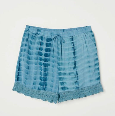 1626 - Drawstring Tie Dye Lace Shorts