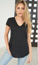 Load image into Gallery viewer, 1525- Waffle Knit Vneck Tee