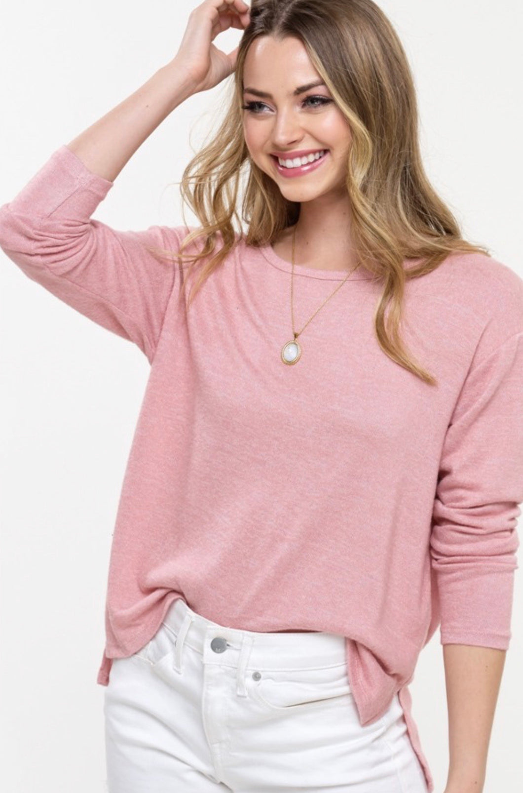 980 - Blush Lightweight Sweater