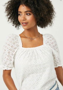 2740 - New Beginnings Eyelet Blouse
