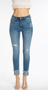 KC7812M - KanCan High Rise Ankle Skinny