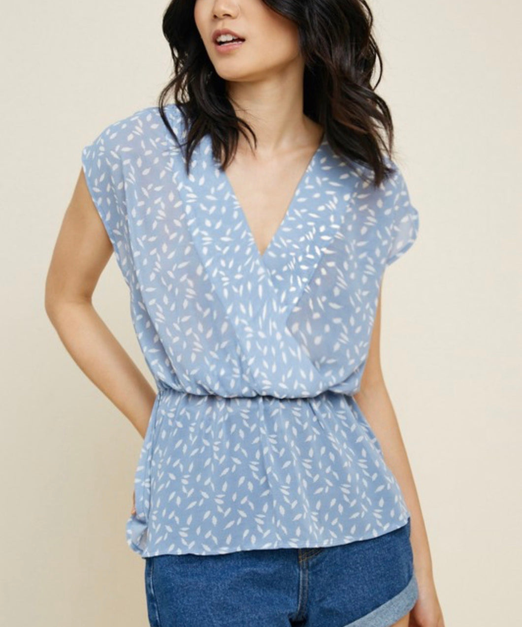 1622 - Printed Rayna Peplum Top