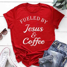 Load image into Gallery viewer, Fueled By Jesus & Coffee Shirt