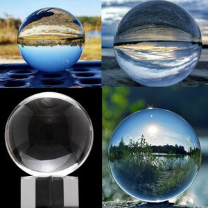 LensBall For magic: Ideal size for holding in sole hand,or a magic prop to play with fun. Powerful Purifier - The clear crystal is bilieved to clear your mind and absorb sunshine and moonlight to enhance the divination ability.