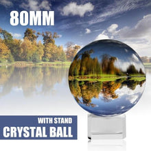 Load image into Gallery viewer, LensBall For magic: Ideal size for holding in sole hand,or a magic prop to play with fun. Powerful Purifier - The clear crystal is bilieved to clear your mind and absorb sunshine and moonlight to enhance the divination ability.