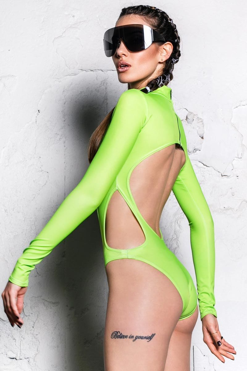 electric-green-long-sleeve-bodysuit